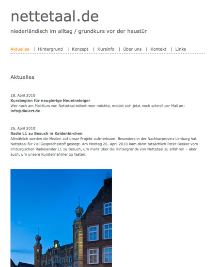 nettetaal.de - new website by bobok.com