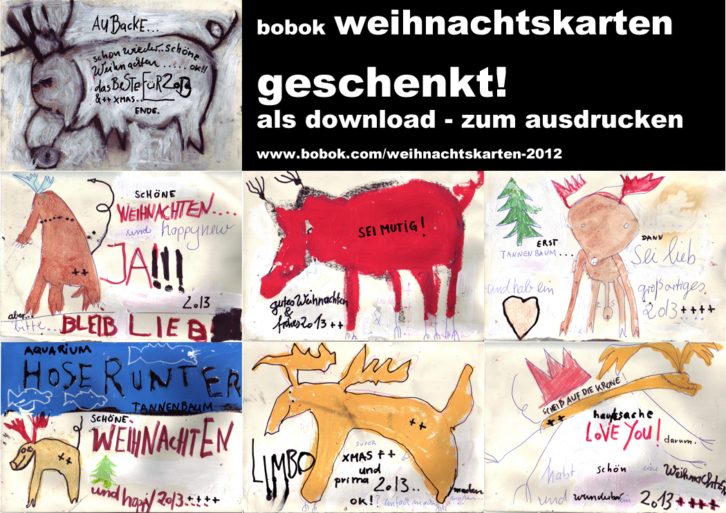 bobok weihnachtkarten - free download