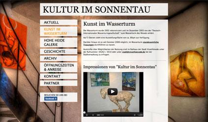kunst im wasserturm - relaunch
